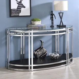 devinna glass top sofa table