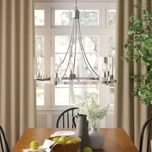 rustic brushed nickel chandeliers