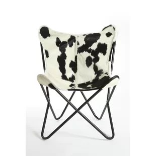 black and white cowhide chair electronic wheel wayfair quickview