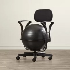 Office Chair Exercise Ball Cover Hire North West Desk With Wayfair
