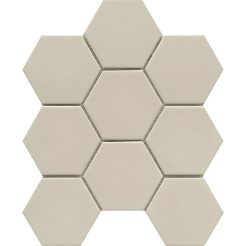source 3 x 3 beveled porcelain honeycomb mosaic wall floor tile