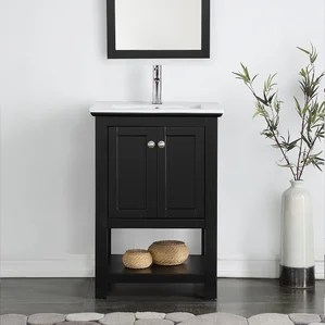 black bathroom vanities you'll love | wayfair
