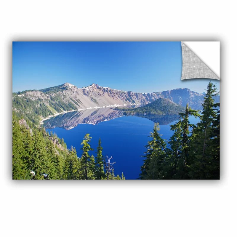 Crater Lake by Dan Wilson  Removable Wall Decal Size: 16 H x 24 W x 0.1 D
