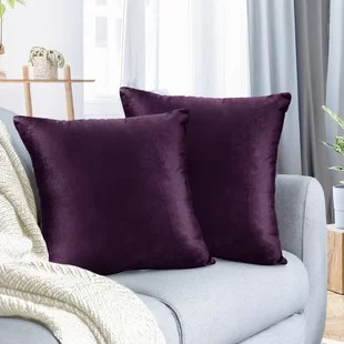 wayfair purple throw pillows you ll