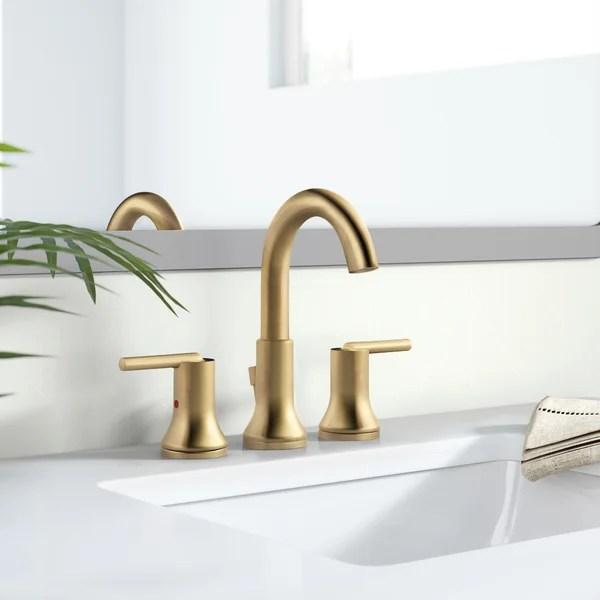 modern contemporary matte gold bathroom faucet