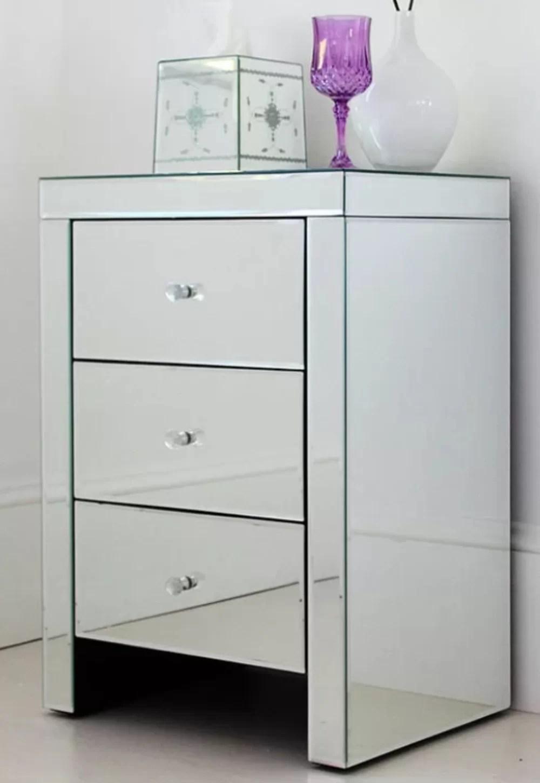 Enos Mirror 3 Drawer Nightstand