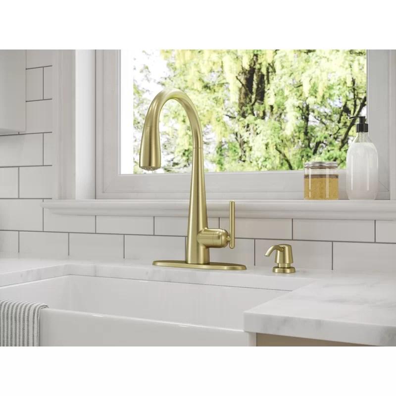 lita pull down single handle kitchen faucet