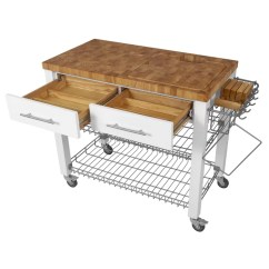 Kitchen Block Ikea Prices Ebern Designs Sydney Cart With Butcher Top Wayfair Ca