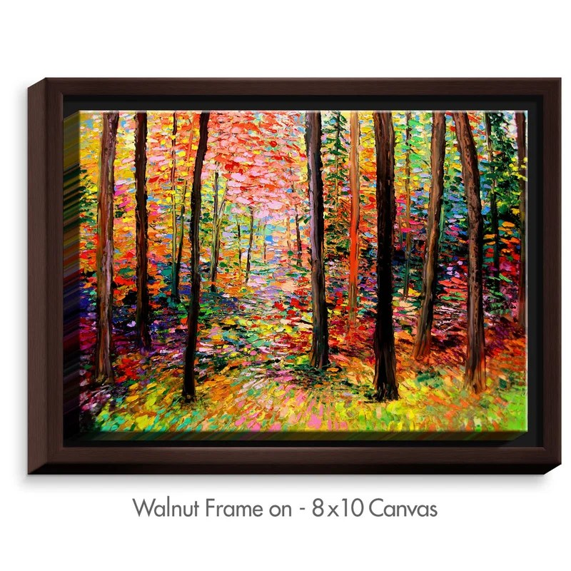 Prisms by Aja Ann Painting on Wrapped Framed Canvas Size: 31.75 H x 41.75 W x 1.75 D Frame Color: Walnut