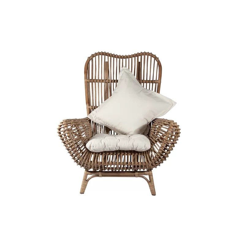 round wicker chair cover hire eastbourne back rattan reviews allmodern