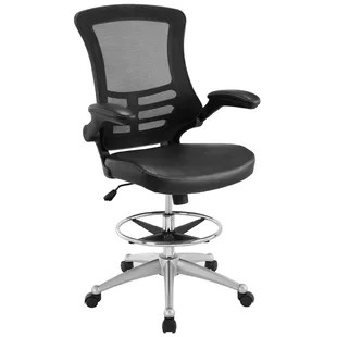 modern drafting chair eames office desk chairs allmodern dominick high back mesh