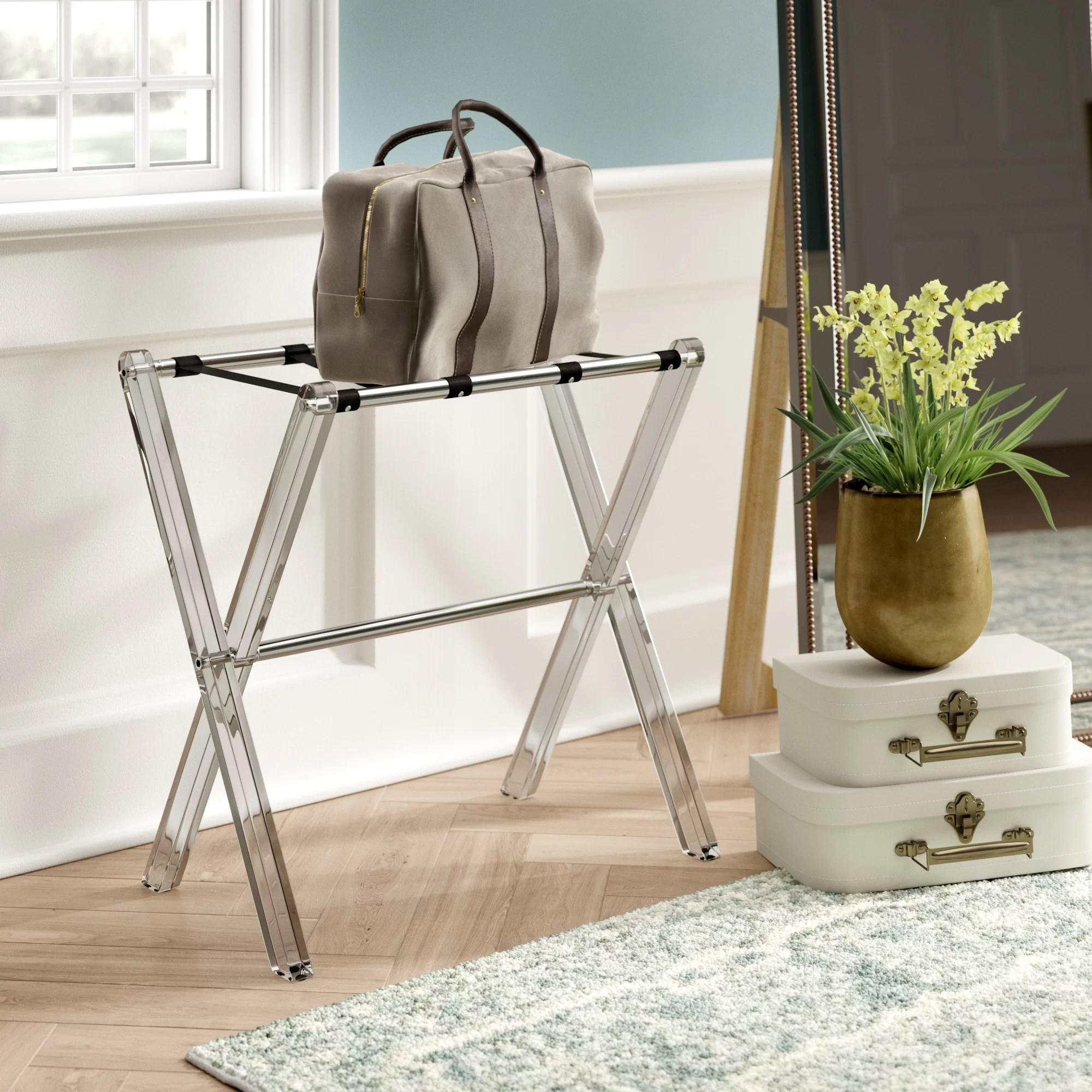 widcombe folding metal luggage rack