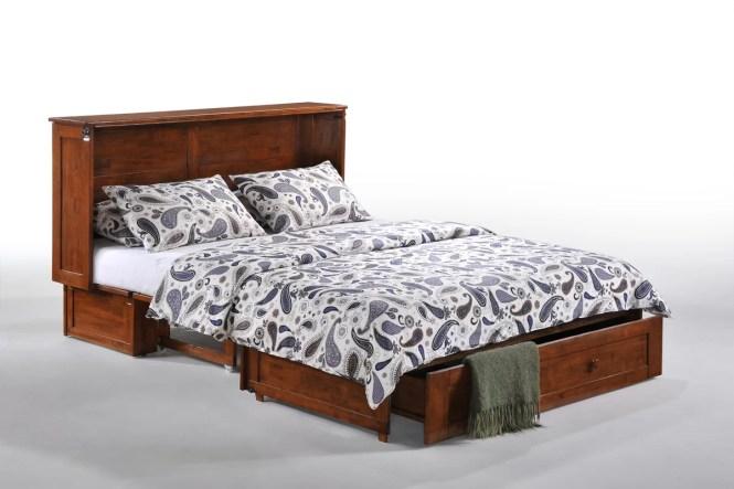Clover Queen Storage Murphy Bed With Mattress
