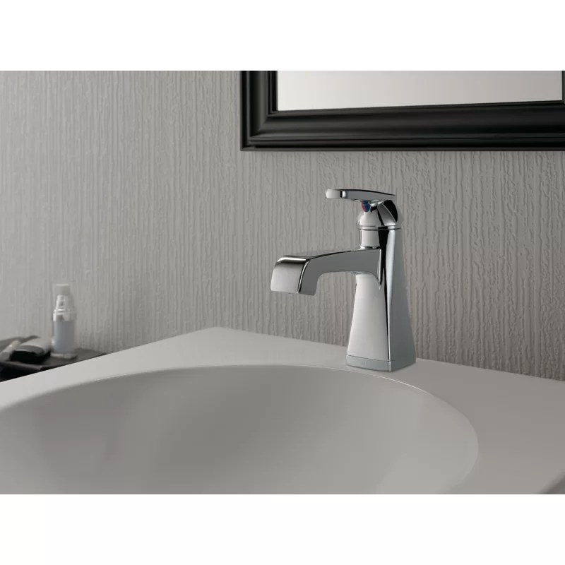 ashlyn single hole bathroom faucet with drain assembly and diamond seal technology