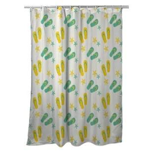 shreveport flip flops single shower curtain