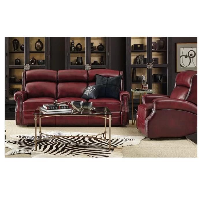 reclining leather living room furniture sets navy blue hooker carlisle configurable set reviews wayfair ca