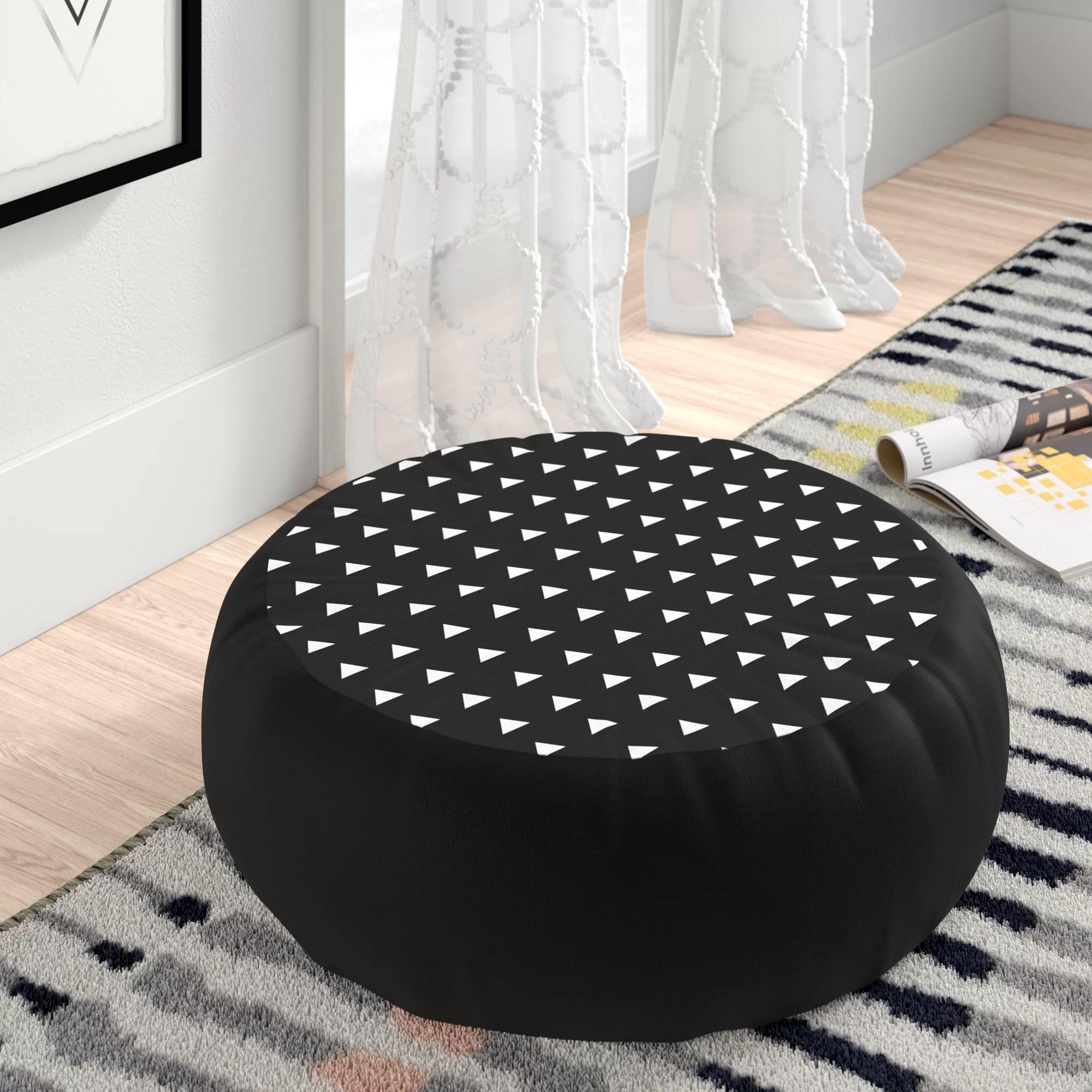 atkinson geometric round floor pillow