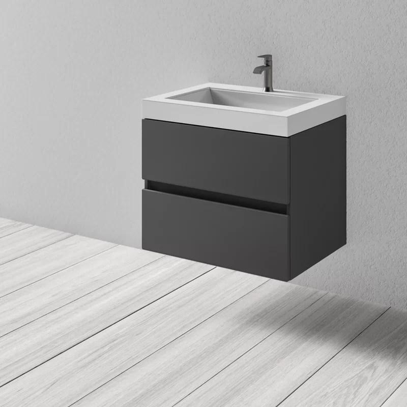 Janice 31 Wall Mounted Single Bathroom Vanity Set Reviews Allmodern