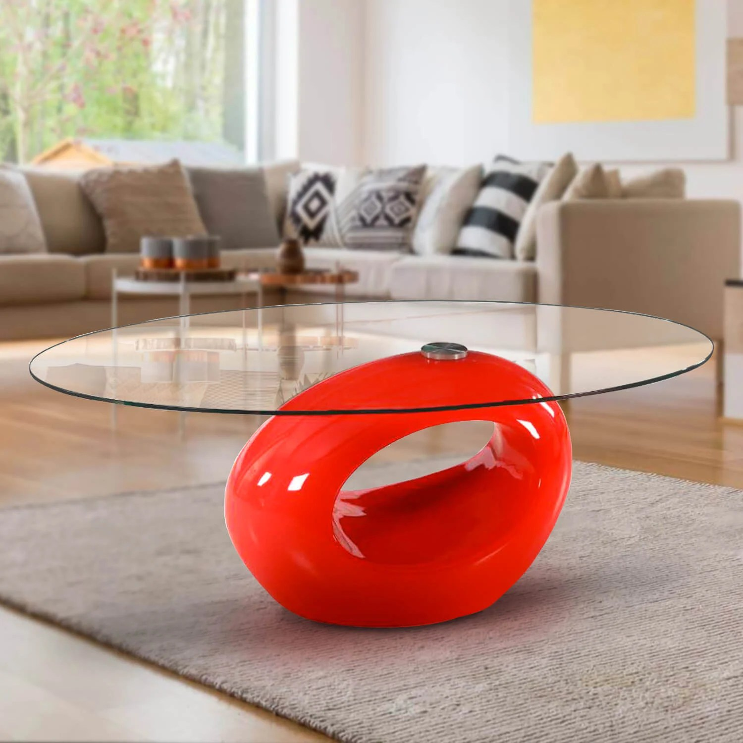 glass red coffee tables you ll love in