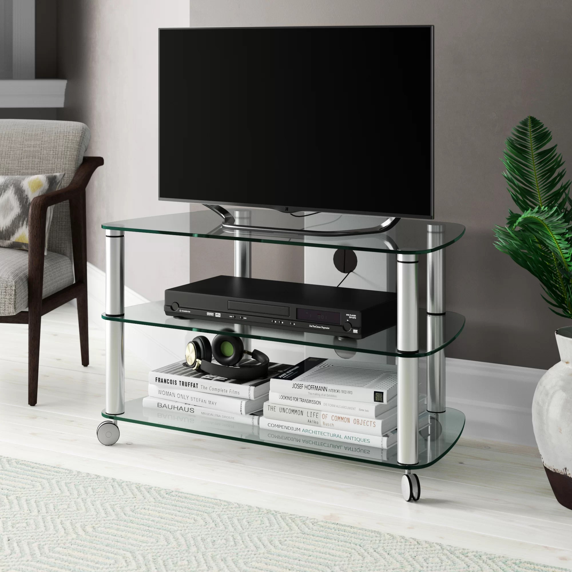 Tv Rack Mit Rollen Jahnke Cuuba Sr 910 Tv Stand For Tvs Up To 50\