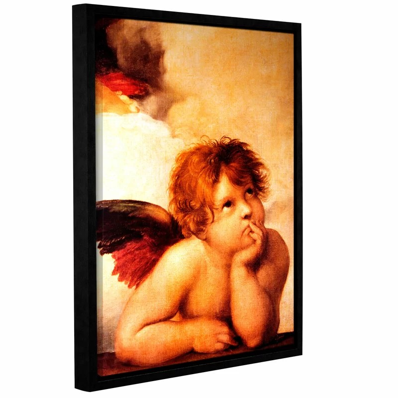 Cherub by Raphael Framed Painting Print on Wrapped Canvas Size: 32 H x 24 W