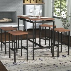 Pub Kitchen Table Green Paint Colors For Tables Bistro Sets You Ll Love Wayfair Mcgonigal 5 Piece Set