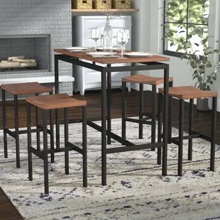 pub kitchen table countertop ideas cheap tables bistro sets you ll love wayfair mcgonigal 5 piece set