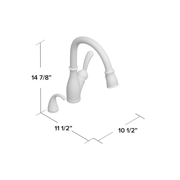 leland pull down single handle kitchen faucet with touch2o technology