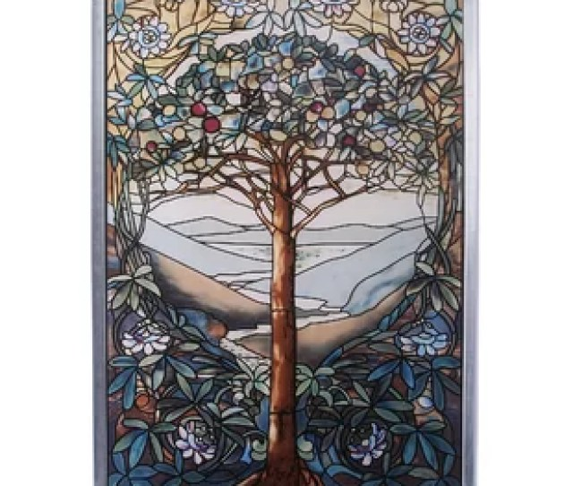 Tree Of Life Art Glass Wall Decor By Design Toscano