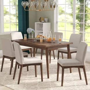 modern kitchen table products dining room sets you ll love wayfair lydia 7 piece set