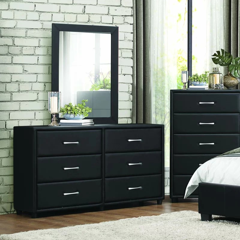 amezcua 6 drawer double dresser with mirror