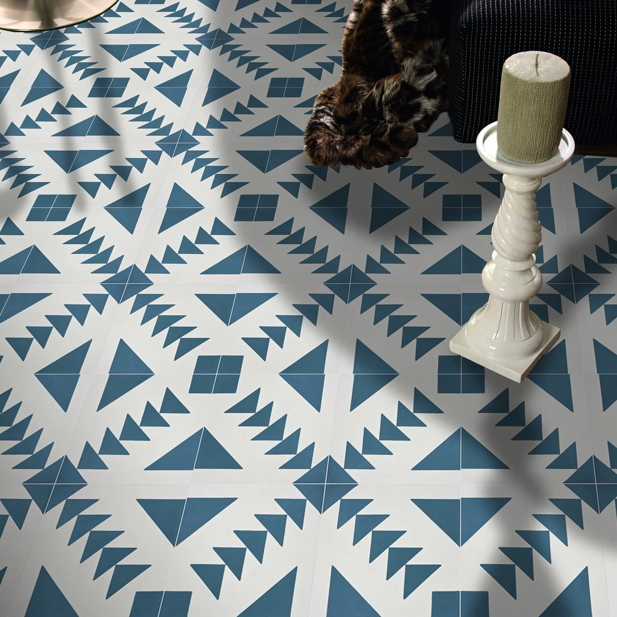 tadla 8 x 8 cement patterned wall floor tile