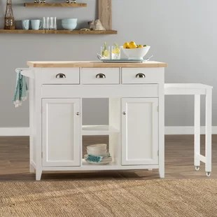 kitchen table island combo shelving for pantry wayfair ivanhoe