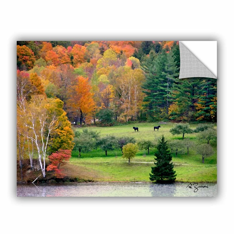 Killington Vermont by George Zucconi  Removable Wall Decal Size: 14 H x 18 W x 0.1 D