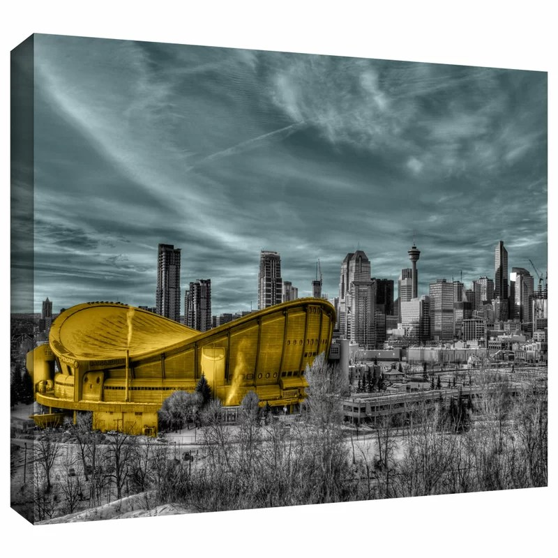 Calgary by Revolver Ocelot Photographic Print on Wrapped Canvas Size: 32 H x 48 W