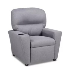 Kid Recliner Chair Swivel Mat Kids Recliners Bradly With Cupholder