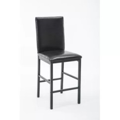 Chair Stool Black Outdoor Wicker And Ottoman Set Counter Height Chairs Of 4 Wayfair Andreana Upholstered Dining