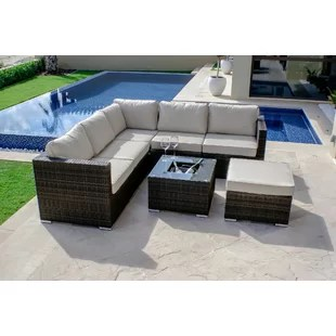 6pc milan modular rattan corner sofa set the factory chennai outdoor bar wayfair co uk quickview 0 apr financing