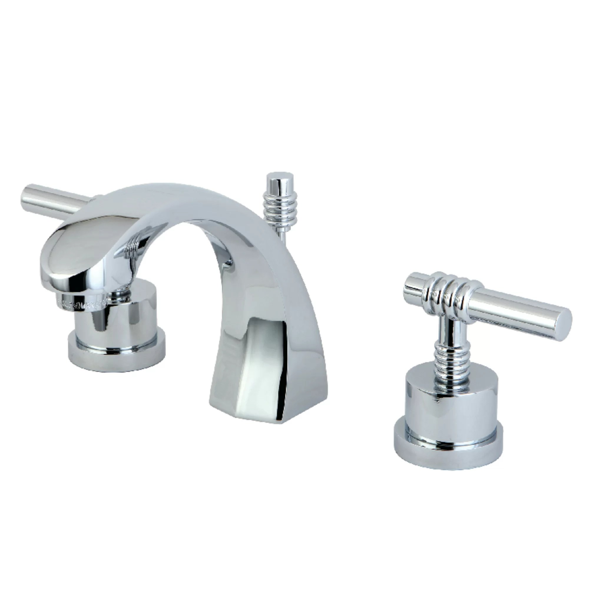Bathroom Sink Faucets Milano Widespread Bathroom Sink Faucet With Brass Pop Up