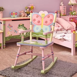rocking chairs for children big and tall outdoor 500lbs kids you ll love wayfair magic garden chair