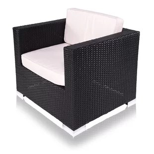 black rattan chair invacare power modern contemporary allmodern outdoor arm with cushion