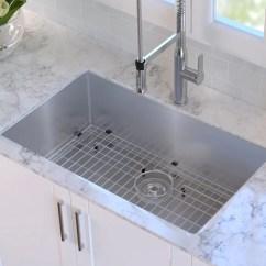 High End Kitchen Sinks Copper Kraus 32 L X 19 W Undermount Sink Reviews Wayfair Ca