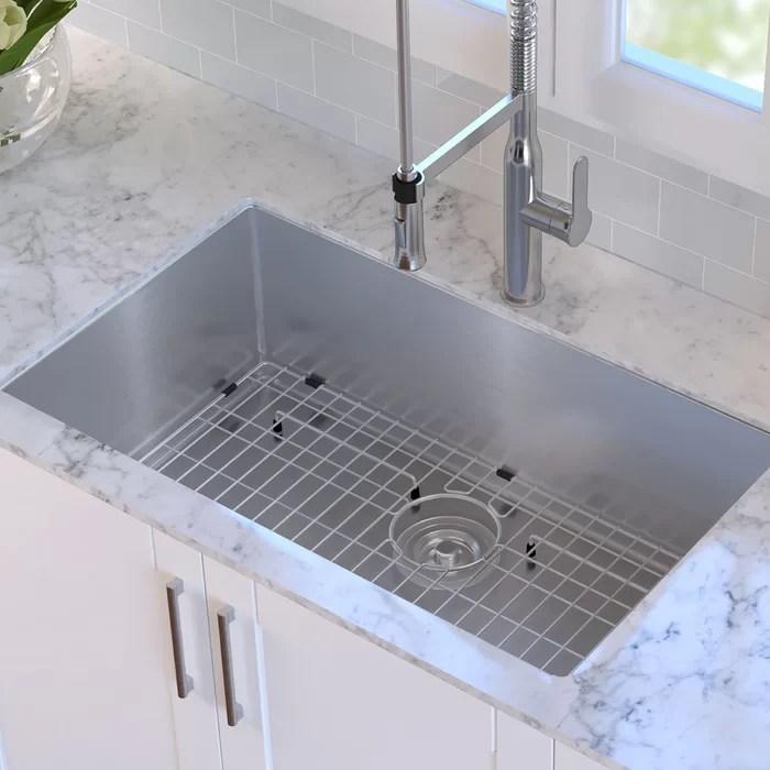 high end kitchen sinks coffee decoration for kraus 32 l x 19 w undermount sink reviews wayfair ca