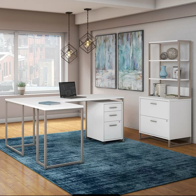 Kathy Ireland Office By Bush Method 3 Piece L Shaped Desk Office