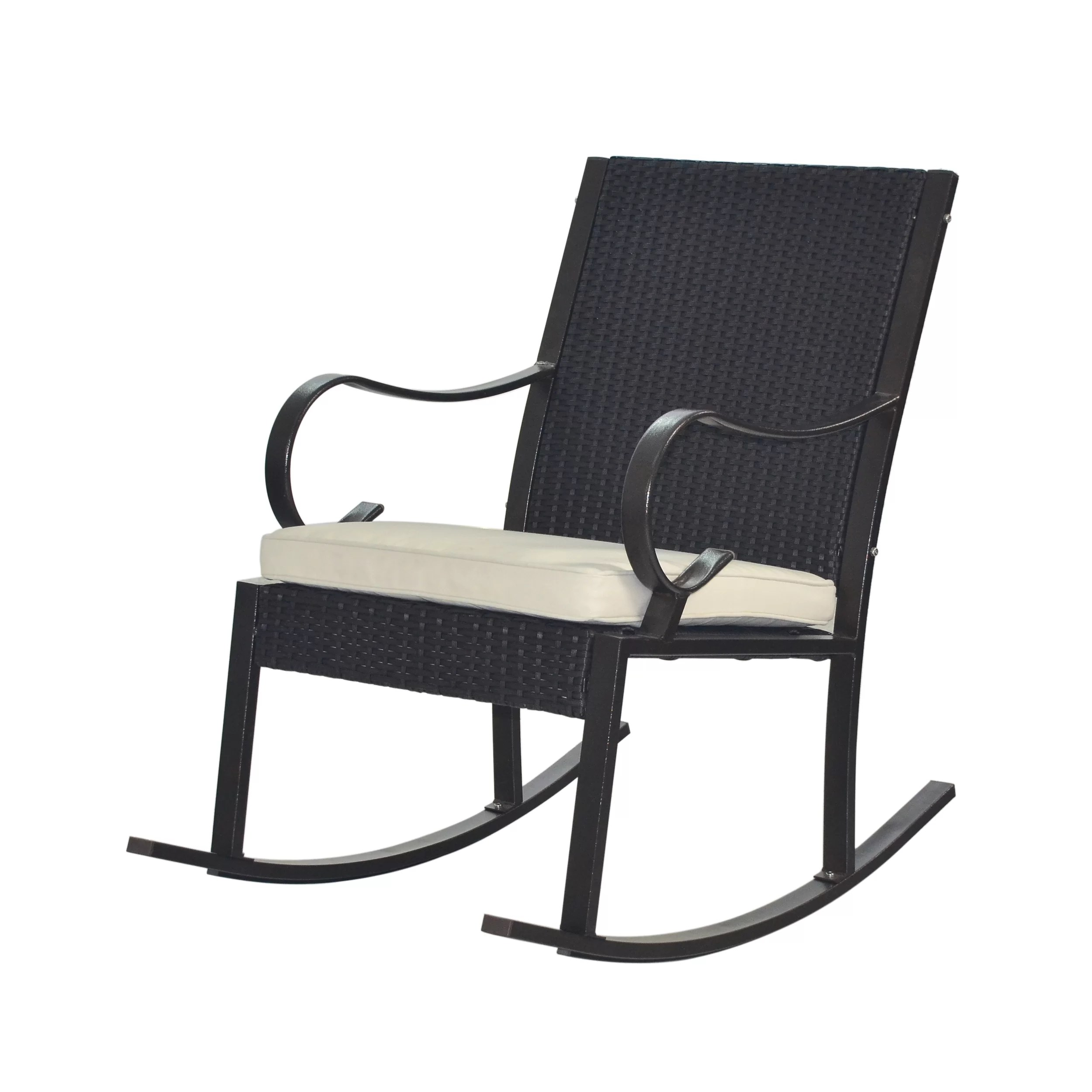 Wicker Rocking Chair Kampmann Outdoor Wicker Rocking Chair With Cushions