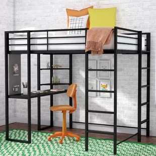 loft bed with desk and futon chair parson covers canada wayfair quickview