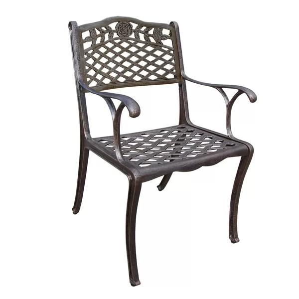 thompson cast aluminum patio dining chair
