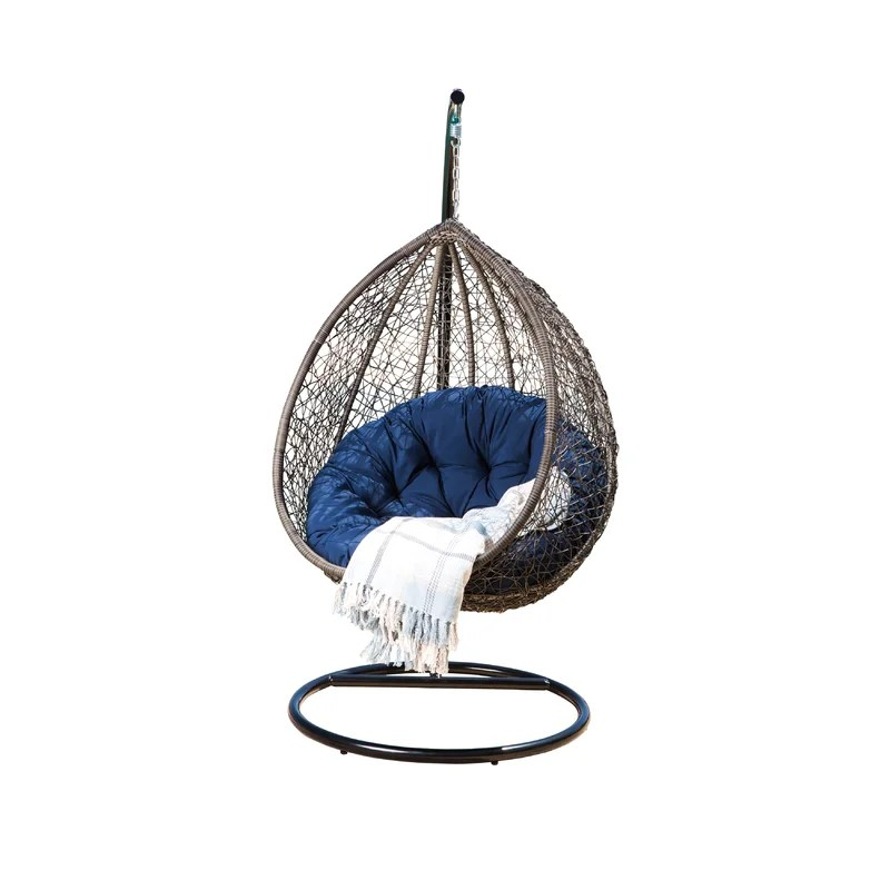outdoor wicker swing chair slings for chairs ostrowski with stand joss main