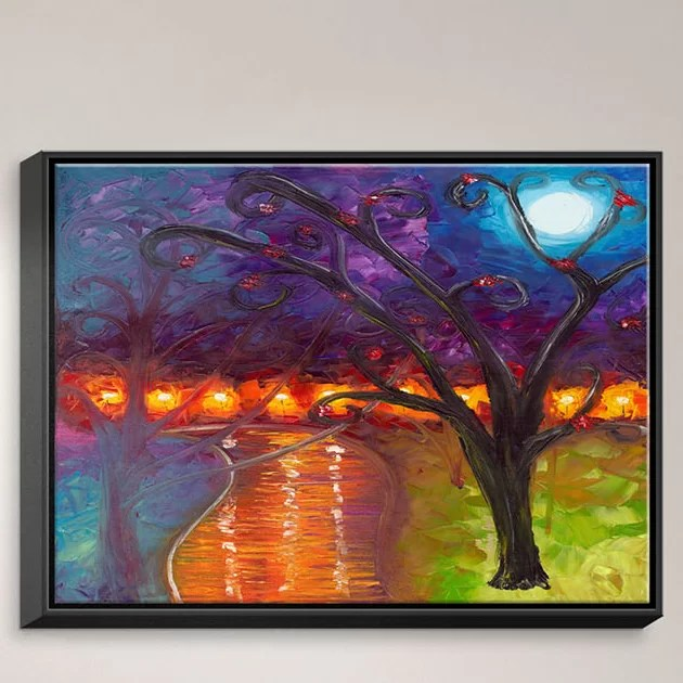 I Think Were Alone Now by Jessilyn Park Painting Print on Wrapped Framed Canvas Size: 31.75 H x 41.75 W x 1.75 D Frame Color: Black