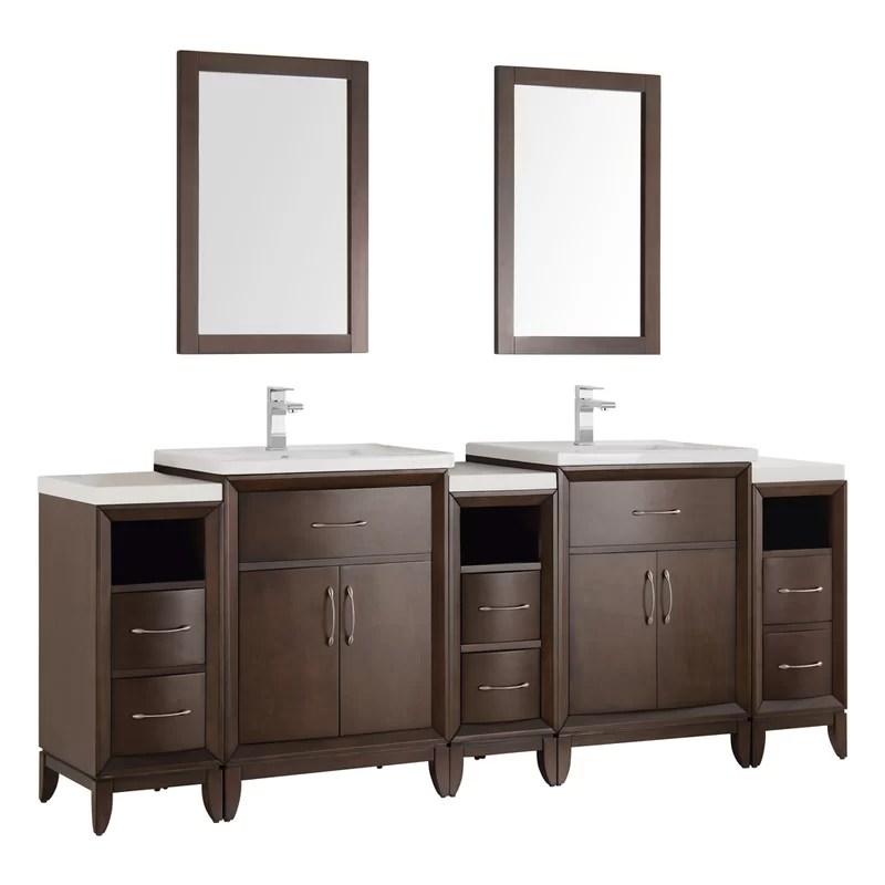 Fresca Cambridge 84 Double Traditional Bathroom Vanity Set With Mirror Reviews Perigold